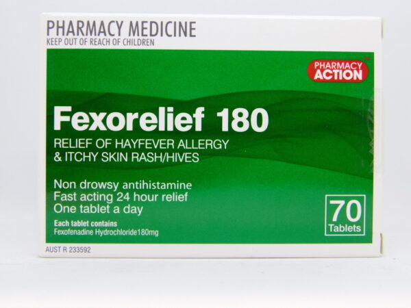 Fexorelief 180 Tablets 70